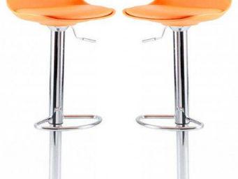 ID'CLIK - tabouret de bar gaëlle orange orange - Chaise Haute De Bar