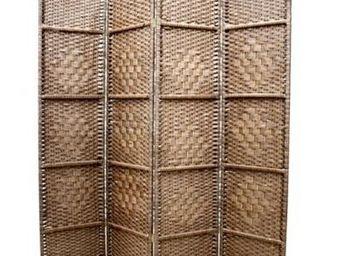 Fomax - paravent zen à quatre volets - couleur - marron - Paravent