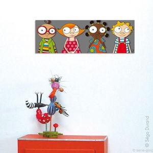 SERIE GOLO - toile imprimée les copains 60x20cm - Tableau Décoratif Enfant