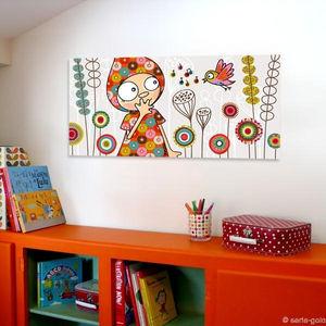 SERIE GOLO - toile imprimée enchanté 78x38cm - Tableau Décoratif Enfant