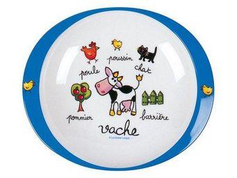 La Chaise Longue - assiette mélaminé ferme - Assiette Bébé