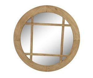 AMBIANCE COSY - miroir rond morlaix en bois mindi - Miroir