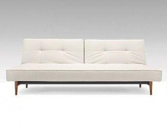 INNOVATION - canape lit design splitback bois blanc convertible - Canap� Lit