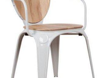 ZUIVER - chaise avec accoudoirs zuiver louix - Chaise