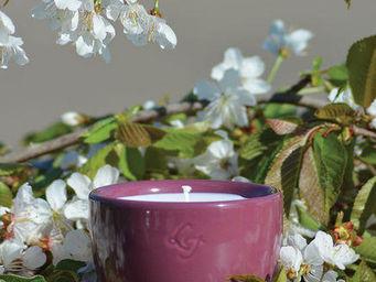 LES LUMIÈRES DU TEMPS - bougie céramique violet - Bougie Parfumée