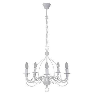 Corep - symphonie - lustre 5 lampes blanc | suspension cor - Lustre