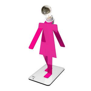 Thomas De Lussac Design Lab - moonwalkette cosmo - lampe à poser rose h32cm   la - Lampe À Poser