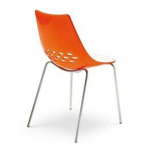 Calligaris - chaise jam de calligaris piétement acier chromé as - Chaise