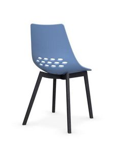 Calligaris - chaise jam w de calligaris bleu piétement graphite - Chaise