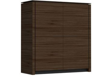 Calligaris - buffet mag wood 4 portes de calligaris wengé - Buffet Bas