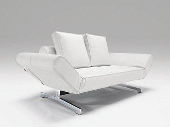 INNOVATION - canap� lit design ghia blanc convertible 80*210 cm - Canap� Lit