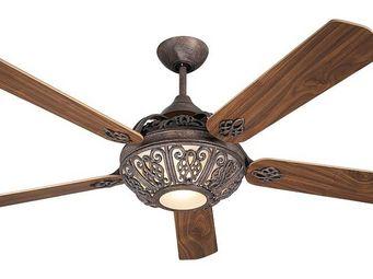 EVT/ Casafan - Ventilatoren Wolfgang Kissling - ventilateur de plafond bronze, santa pepeo, une me - Ventilateur De Plafond