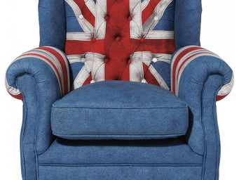 Kare Design - fauteuil berg�re grand father union jack - Berg�re