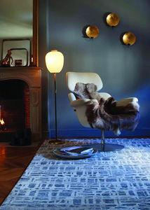 Toulemonde Bochart - city gris bleu - Tapis Contemporain