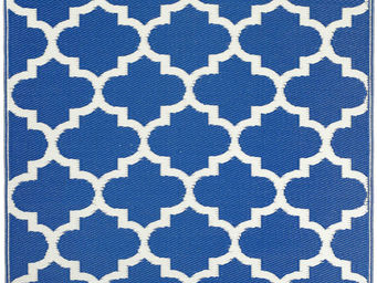 FABHABITAT - tapis intérieur extérieur tangier bleu et blanc gr - Tapis Contemporain