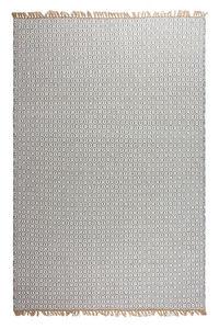 FABHABITAT - tapis en plastique recyclé lancut gris très grand - Tapis Contemporain