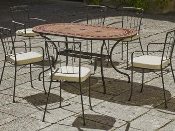 HEVEA - salon de terrasse mosaïque avec fauteuils 6 fauteu - Salle À Manger De Jardin