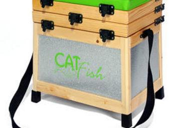 Sauvegarde58 - siège pêche et casier en bois et alu (ba2c) 38.5x2 - Panier De Pêcheur