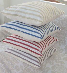 ITI  - Indian Textile Innovation - stripe - Coussin Carré