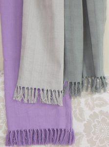 ITI  - Indian Textile Innovation - solid dobby - Jeté De Lit