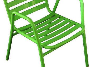 WILSA GARDEN - fauteuil de jardin à lattes retro vert - Fauteuil De Jardin