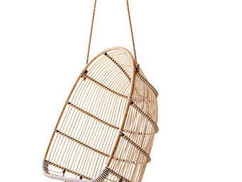 Sika design - balancelle à suspendre holly en rotin et fibre 75x - Balancelle
