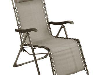 PROLOISIRS - fauteuil de jardin relax néo taupe - Fauteuil De Jardin