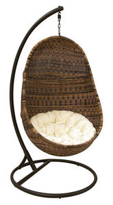 Aubry-Gaspard - fauteuil oeuf suspendu en r�sine - Balancelle