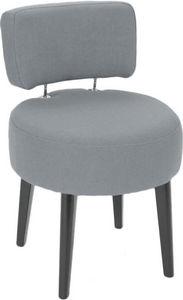 Amadeus - fauteuil rond en lin gris victor - Fauteuil