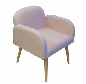 Cotton Wood - fauteuil en toile effet lin oslo - Fauteuil