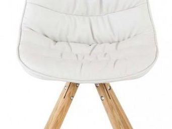 ID'CLIK - chaise repas design lotus (lot de 2) blanc - Chaise