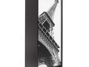 WHITE LABEL - classeur à rideaux noir - curtain n°5 - l 38 x l 3 - Armoire À Rideaux