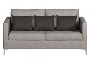 Home Spirit - canapé fixe design aston 3 places tissu tweed gris - Canapé 3 Places