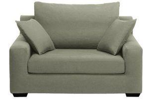 Home Spirit - fauteuil xl manhattan tissu tweed kaki - Fauteuil