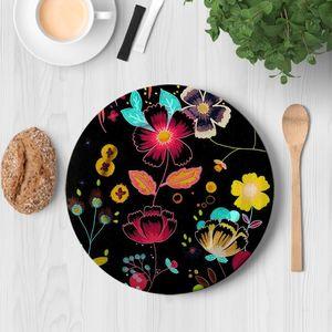 la Magie dans l'Image - assiette happy flowers - Assiette De Présentation