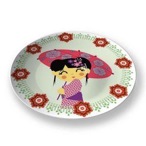 la Magie dans l'Image - assiette héros japonaise - Assiette De Présentation