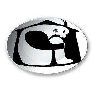 la Magie dans l'Image - assiette ogre maison noir & blanc - Assiette De Présentation