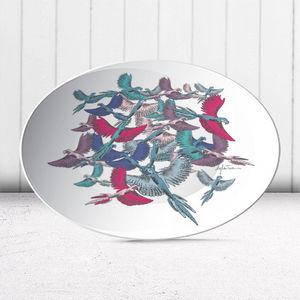 la Magie dans l'Image - assiette oiseaux - Assiette De Présentation