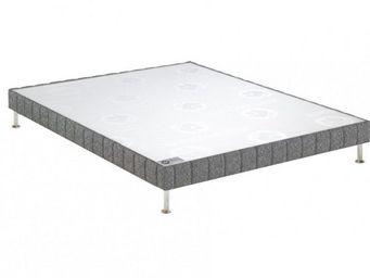Bultex - bultex sommier double tapissier confort ferme gri - Sommier Fixe À Ressorts