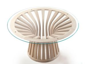 Cassina - 390 lebeau wood - Table De Repas Ronde
