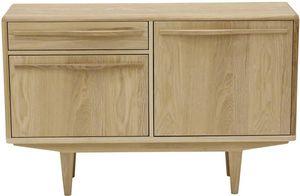 ZAGO - meuble bas plaqué chêne et chêne blanchi kol - Meuble Tv Hi Fi