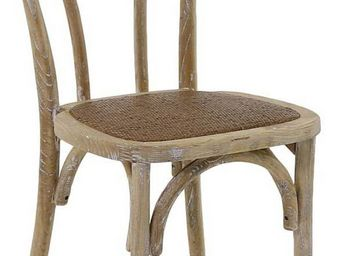 INWOOD - chaise bistrot en bois d'orme (lot de 2) - Chaise