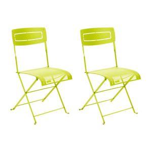 Fermob - 2 chaises slim verveine - Chaise De Jardin Pliante
