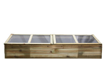 CEMONJARDIN - serre double chassis en bois florence - Serre Potager