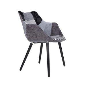 ZUIVER - chaise patchwork gris et noir - Chaise