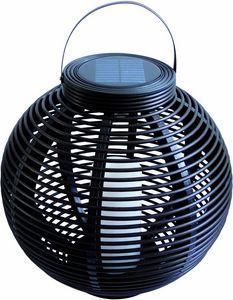 MUNDUS - lanterne solaire ronde en plastique tressé ova - Lanterne D'extérieur