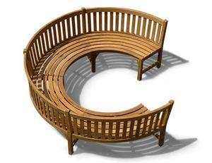 Lindsey Plantation Teak - henley - Banc Circulaire
