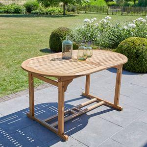 BOIS DESSUS BOIS DESSOUS - table en bois d'acacia fsc 6 à 8 places - Salle À Manger De Jardin