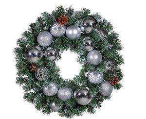 Deco Woerner - blanche et argentee - Couronne De Noël