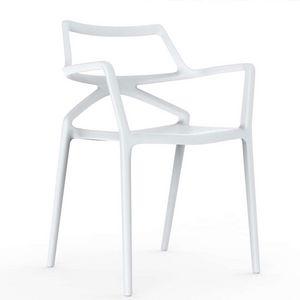 VONDOM - delta - chaise en polypropylène (lot de 4) - Fauteuil